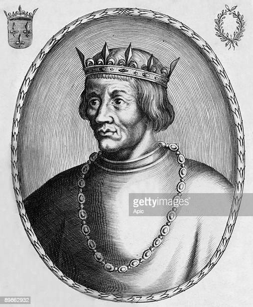 Louis X french king in 13141316 engraving
