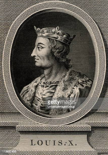 Louis X the Quarrelsome a member of the Capetian dynasty King of Navarre from 1305 and king of France from 1314 Copperplate engraving 1793