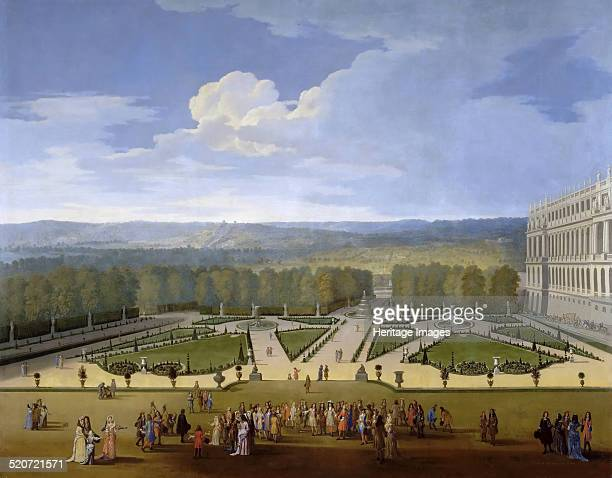 Louis XIV and his Court on a Promenade in the Gardens of Versailles Found in the collection of Musée de l'Histoire de France Château de Versailles