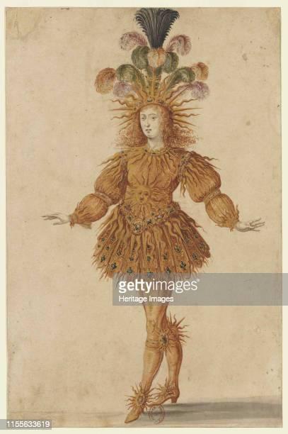 Louis XIV as Apollo in the ballet Ballet de la Nuit, 1653. Found in the Collection of Bibliothèque Nationale de France. Artist Gissey, Henri de .