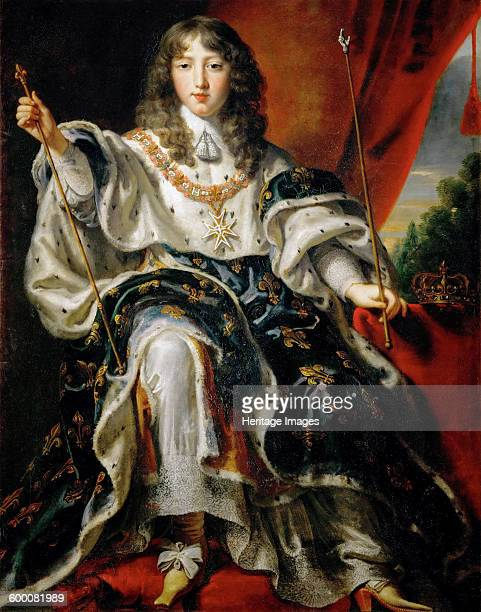 Louis XIV King of France in his Coronation Robes Found in the collection of Ambras Castle Innsbruck Artist Egmont Justus van
