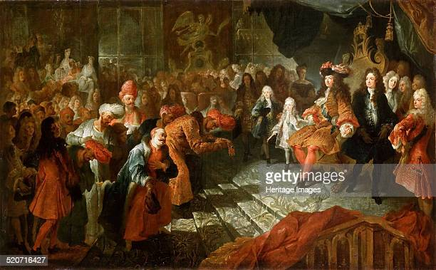 Louis XIV receiving the Persian Ambassador in the Galerie des Glaces at Versailles 19th February 1715 Found in the collection of Musée de l'Histoire...