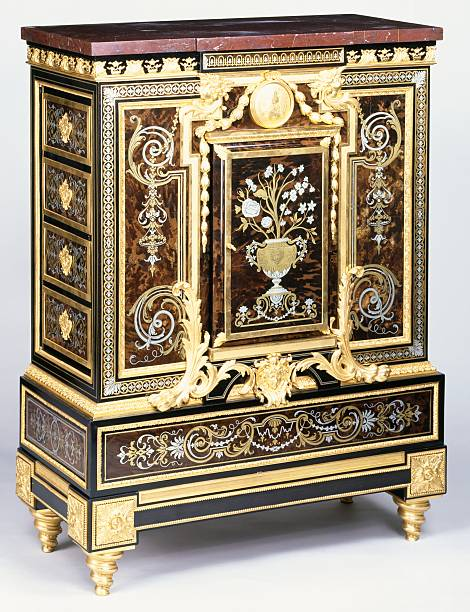 Louis XIV Second Empire style ebony cabinet Pictures   Getty Images