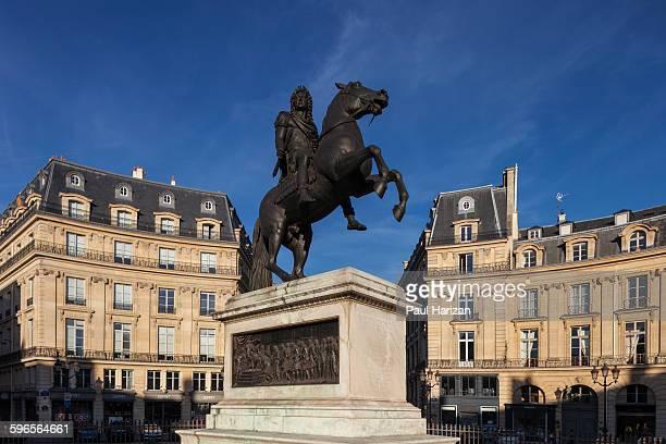 Louis XIV statue on Place des Victoires
