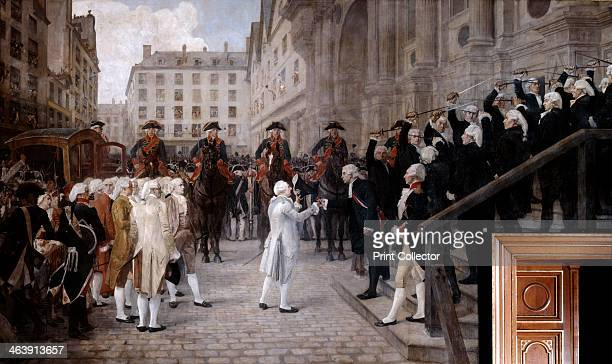 Louis XVI is received by the new Mayor of Paris Jean Sylvain Bailly July 17 1789 One of the instigators of the Oath of the Tennis Court Bailly was...
