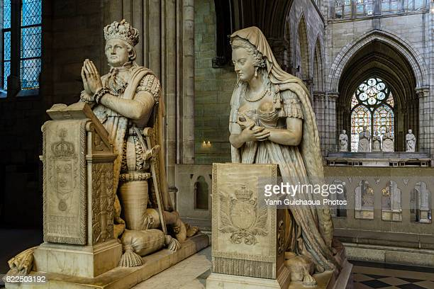 louis xvi of france, marie antoinette,basilica of saint denis, saint denis, france - saint denis paris stock pictures, royalty-free photos & images