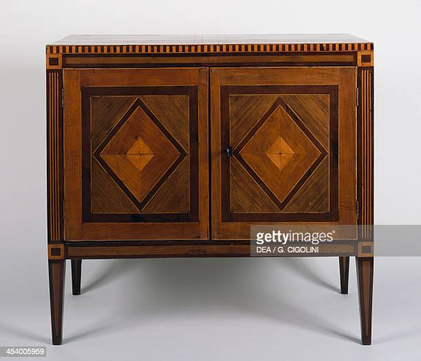 Louis XVI style Neapolitan sideboard with rhombus motive inlays Italy 18th century