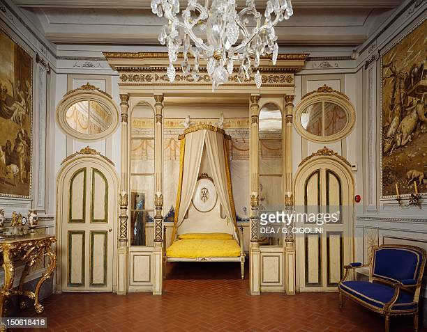 Louis XVI's neoclassical Style bedroom Romantic museum Sitges Spain