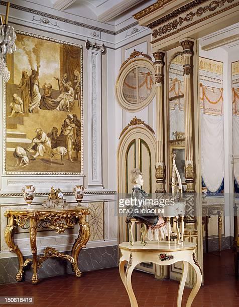 Louis XVI's neoclassical Style bedroom Romantic museum Sitges Spain