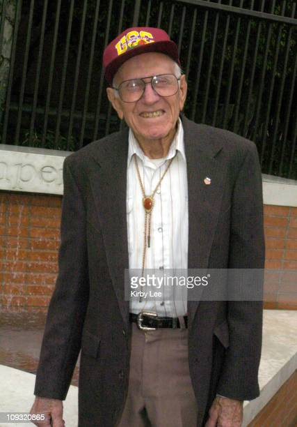 Louis Zamperini during dedication ceremony of plaza in his name at USC track stadium The 87yearold Zamperini was the top American finisher in the...