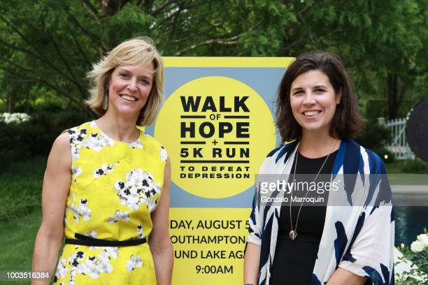 Luisa Benton and Kelly Teglas during the Audrey Gruss And Michael Irving Host Kick Off Cocktail For Third Annual Walk Of Hope 5K Run at Fairwind on...
