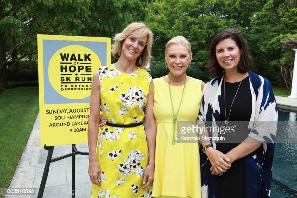 Louisa Benton Audrey Gruss and Kelly Teglas during the Audrey Gruss And Michael Irving Host Kick Off Cocktail For Third Annual Walk Of Hope 5K Run at...