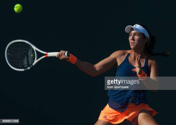 Louisa Chirico in action during the Miami Open on March 22 at the Tennis Center at Crandon Park in Key Biscayne, FL.