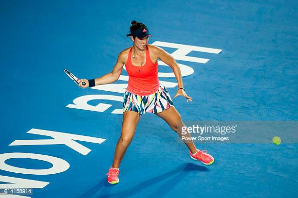 Louisa Chirico of the United States in action against Angelique Kerber of Germanyduring their Singles Round 2 match at the WTA Prudential Hong Kong...