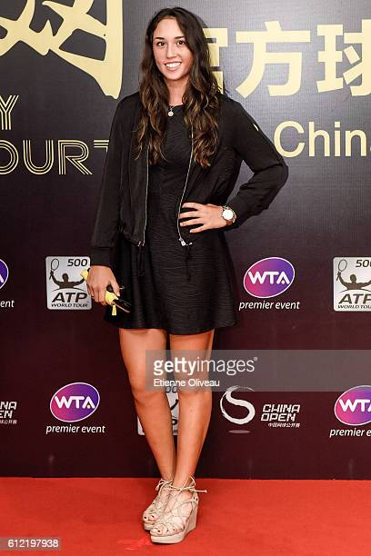 Louisa Chirico of United States arrives at the 2016 China Open Player Party at The Birds Nest on October 3 2016 in Beijing China