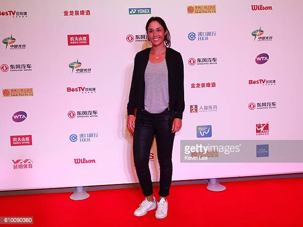 Louisa Chirico of United States poses for a picture at DongFeng Motor Wuhan Open Player Party at Wanda Realm Hotel on September 24, 2016 in Wuhan,...