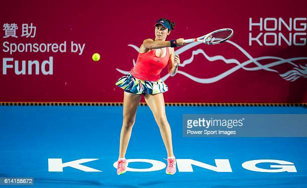 Louisa Chirico of USA in action against Angelique Kerber of Germanyduring their Singles Round 2 match at the WTA Prudential Hong Kong Tennis Open...