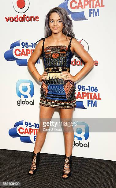 Louisa Johnson arrives for Capital's Summertime Ball at Wembley Stadium on June 11 2016 in London England