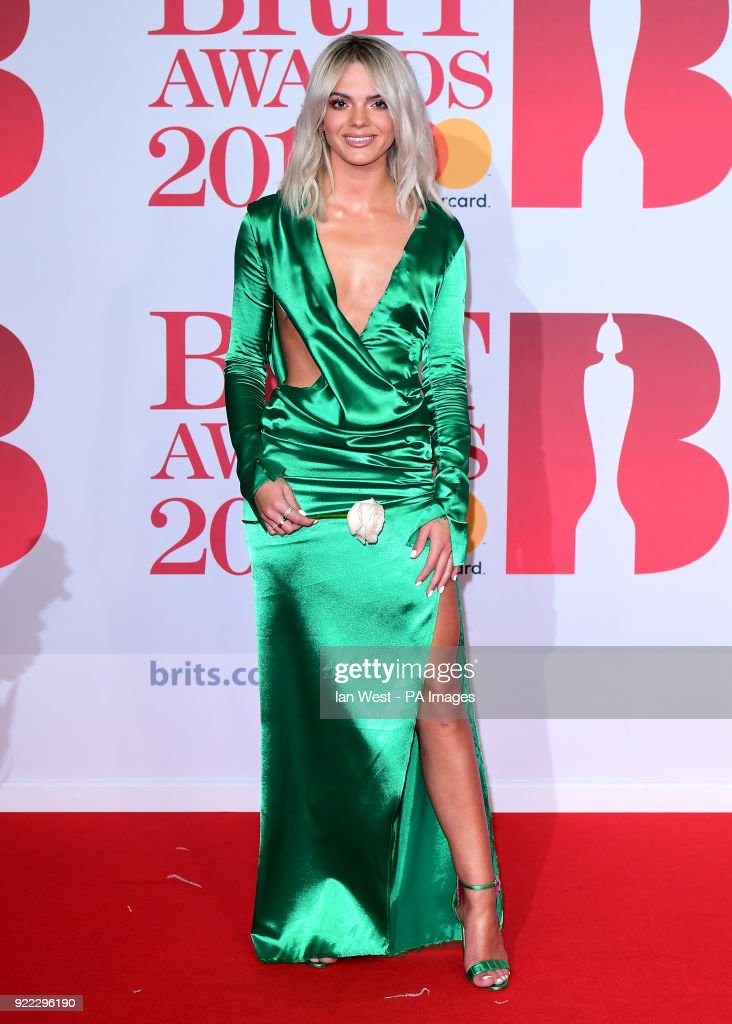 Louisa Johnson attending the Brit Awards at the O2 Arena, London.