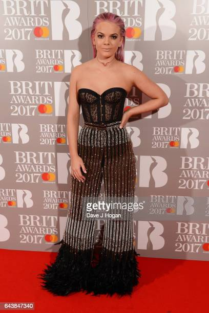 ONLY Louisa Johnson attends The BRIT Awards 2017 at The O2 Arena on February 22 2017 in London England