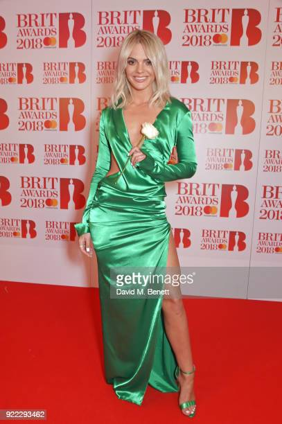 AWARDS 2018 *** Louisa Johnson attends The BRIT Awards 2018 held at The O2 Arena on February 21 2018 in London England