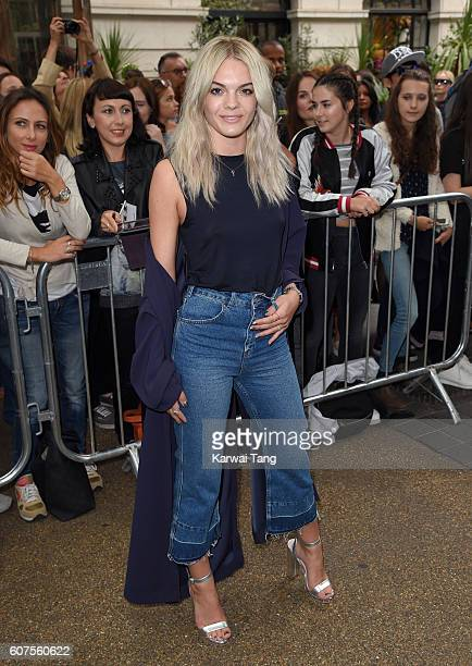 Louisa Johnson attends the TopShop show during London Fashion Week Spring/Summer collections 2016/2017 at Old Spitalfields Market on September 18...