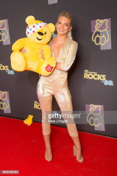 Louisa Johnson is pictured at BBC Children in Need Rocks the 80s at SSE Arena on October 19, 2017 in London, England.