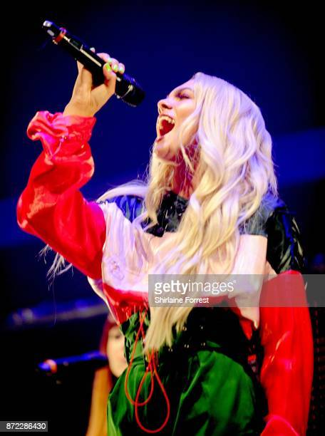 Louisa Johnson performs at Key 103 Live at Manchester Arena on November 9 2017 in Manchester England