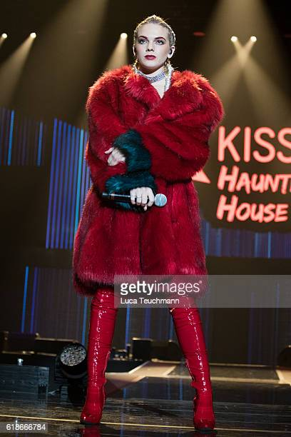Louisa Johnson performs at the Kiss FM Haunted House Party at SSE Arena on October 27 2016 in London England
