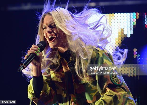 Louisa Johnson performs during Free Radio Live held at Genting Arena on November 11 2017 in Birmingham England