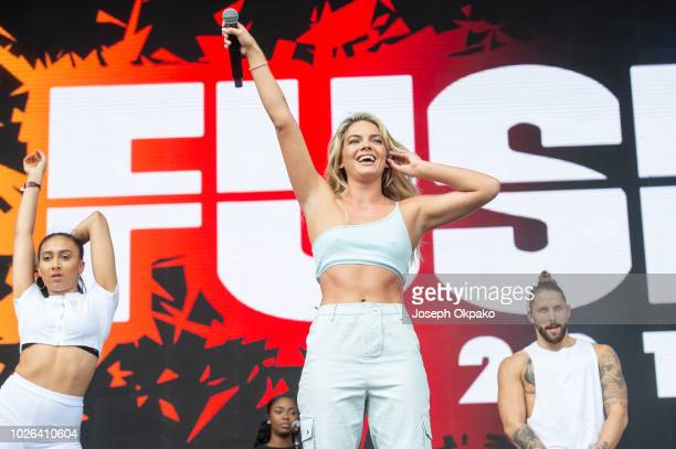 Louisa Johnson performs on stage on Day 2 of Fusion Festival 2018 at Otterspool Parade on September 2 2018 in Liverpool England