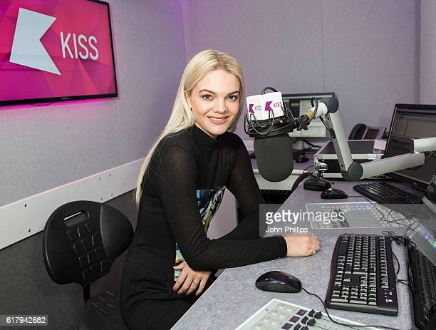 Louisa Johnson visits at Kiss FM Studio's on October 25 2016 in London England