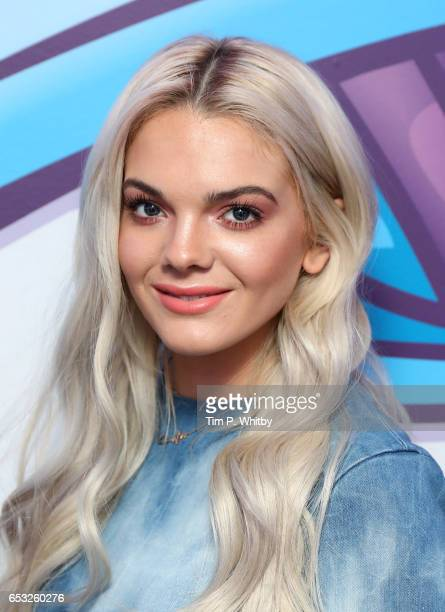 Louisa Johnson visits the Kiss FM studio on March 14 2017 in London United Kingdom