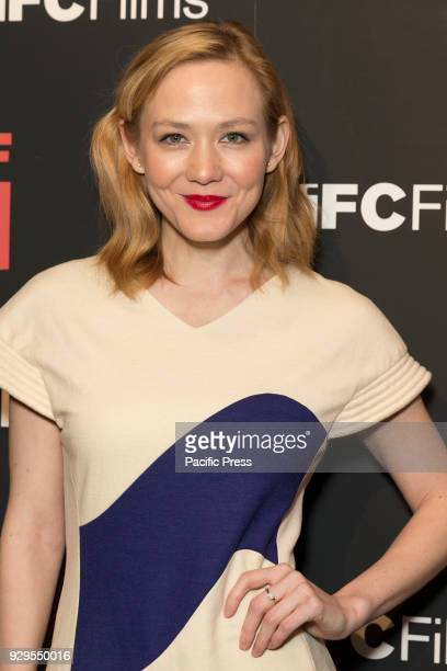 Louisa Krause attends New York premiere of IFC Film Death of Stalin at AMC Lincoln Square
