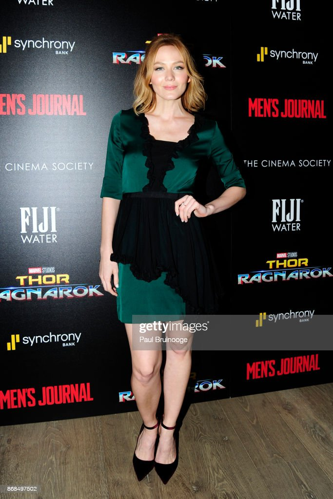 Louisa Krause attends The Cinema Society with FIJI Water, Men's Journal, and Synchrony host a screening of Marvel Studios' 'Thor: Ragnarok' at the Whitby Hotel on October 30, 2017 in New York City.