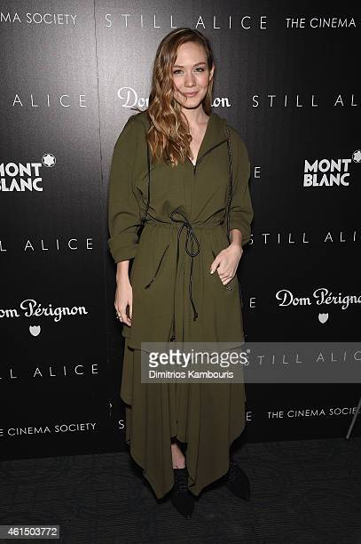 Louisa Krause attends The Cinema Society with Montblanc and Dom Perignon screening of Sony Pictures Classics' 'Still Alice' at Landmark's Sunshine...