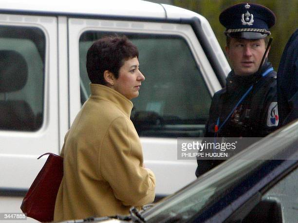 Louisa Lejeune mother of Julie Lejeune one of the victims of child rapist Marc Dutroux arrives at Arlon's assize court 20 April 2004 Dutroux is on...