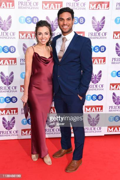 Louisa Lytton and Benny Bhanvra attend The Pride of Birmingham Awards in partnership with TSB at University of Birmingham on March 26 2019 in...
