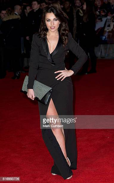 Louisa Lytton arrives for the European Premiere of 'Batman V Superman Dawn Of Justice' at Odeon Leicester Square on March 22 2016 in London England