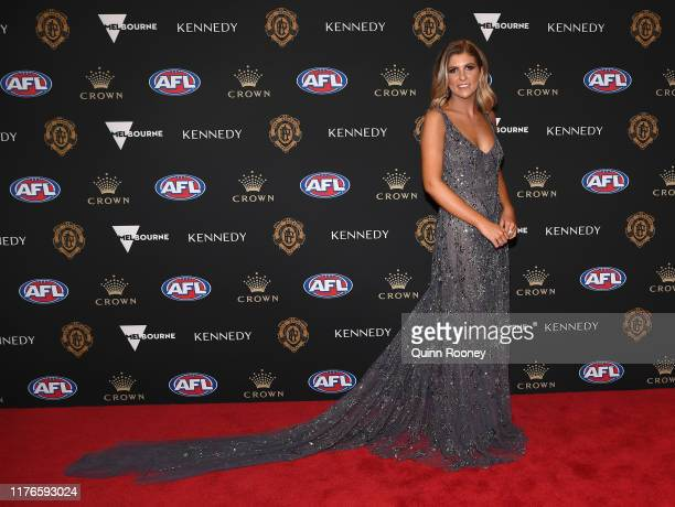 Louisa Macleod arrives ahead of the 2019 Brownlow Medal at Crown Palladium on September 23 2019 in Melbourne Australia
