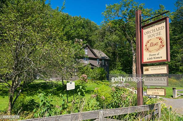 louisa may alcott's house - massachusetts stock pictures, royalty-free photos & images