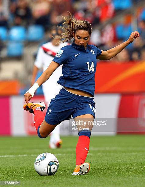 Louisa Necib of France shoots the ball during the FIFA Women's World Cup 2011 Group A match between Canada and France at the Fifa Womens World Cup...