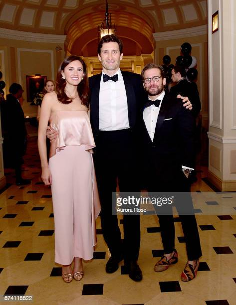 Louisa Rechter Takacs Rob Takacs and Peyton Carr attend Search and Care's Annual Yorkville Ball at Private Club on November 10 2017 in New York City