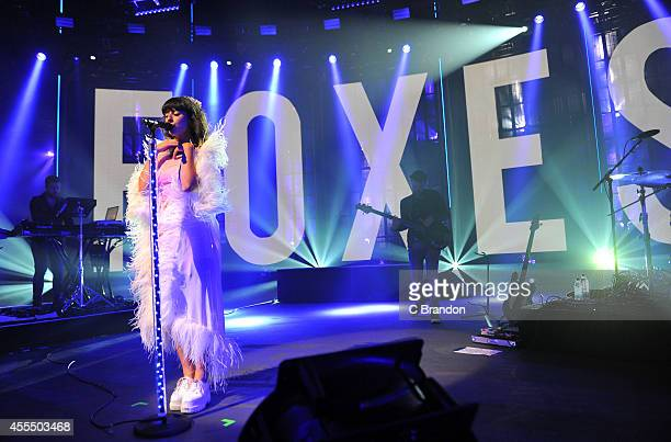 Louisa Rose Allen aka Foxes performs on stage during the iTunes Festival at The Roundhouse on September 15, 2014 in London, United Kingdom.