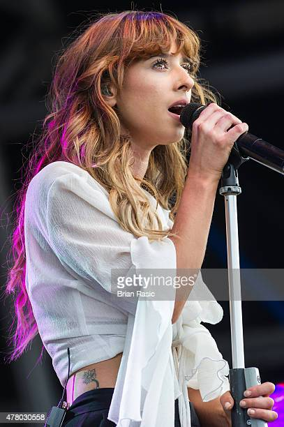Louisa Rose Allen of Foxes performs at the British Summer Time 2015 at Hyde Park on June 21 2015 in London England