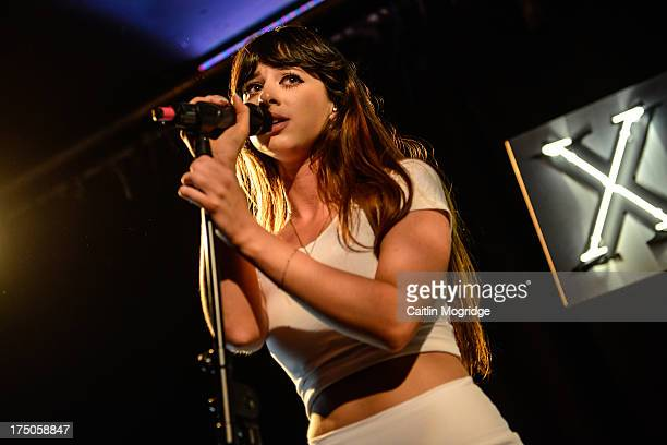 Louisa Rose Allen of Foxes performs on stage at Hoxton Square Bar And Kitchen on July 30, 2013 in London, England.