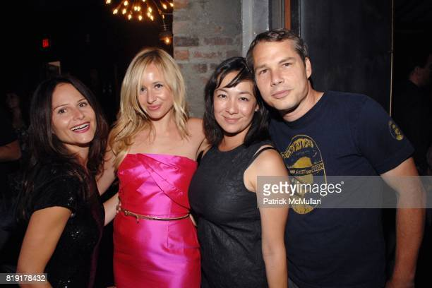 Louisa St Pierre Tamsin Lonsdale Amanda Fairey Shepard Fairey attend The Supper Club Shepard Fairey's SNO host a Bombay Sapphire Tea Party at The Tea...
