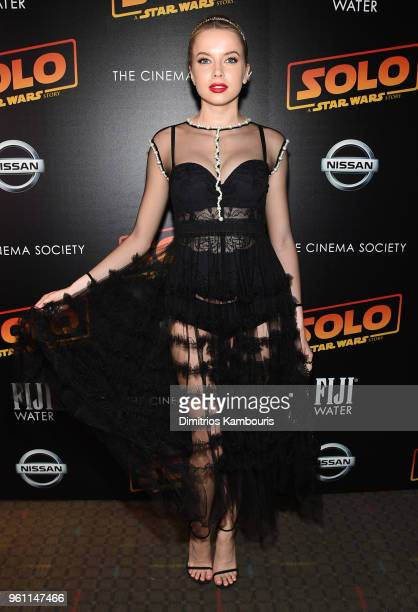 Louisa Warwick attends a screening of 'Solo A Star Wars Story' hosted by The Cinema Society with Nissan FIJI Water at SVA Theater on May 21 2018 in...