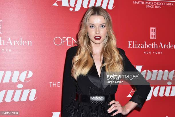Louisa Warwick attends The Cinema Society with Elizabeth Arden Lindt Chocolate host a screening of Open Road Films' 'Home Again' at The Paley Center...