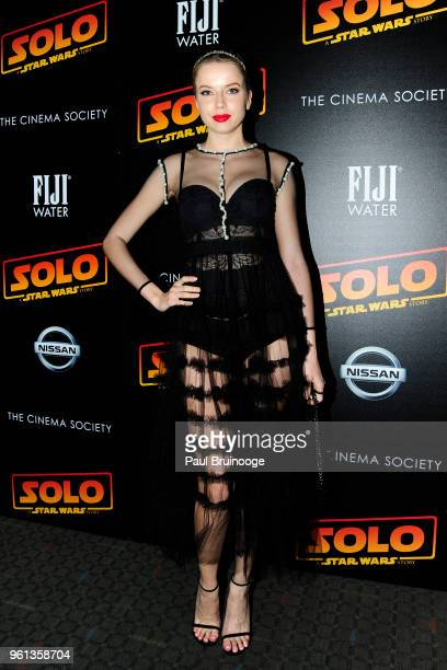 Louisa Warwick attends The Cinema Society With Nissan FIJI Water Host A Screening Of 'Solo A Star Wars Story' at SVA Theatre on May 21 2018 in New...